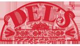 Del's Popcorn Shop Franchise Logo